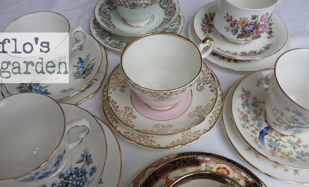 Flo's Garden vintage tea