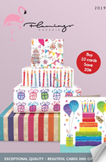 2019 Flamingo Paperie Brochure Cover