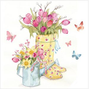 Flowers and Wellies Card