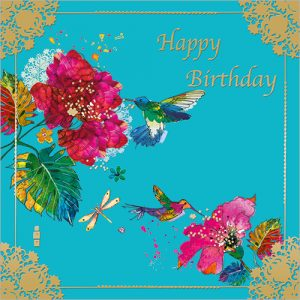 Hummingbirds Card Design from Flamingo Paperie