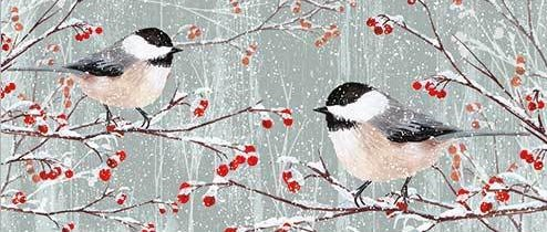 Birds and Berries card design