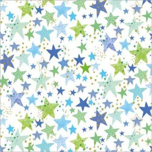 Flamingo Paperie Blue Star Wrap Design