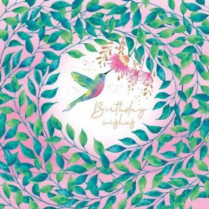 Hummingbird Flamingo Paperie Birthday Card