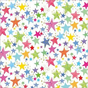 Flamingo Paperie Multi-Colour Star Wrap Design